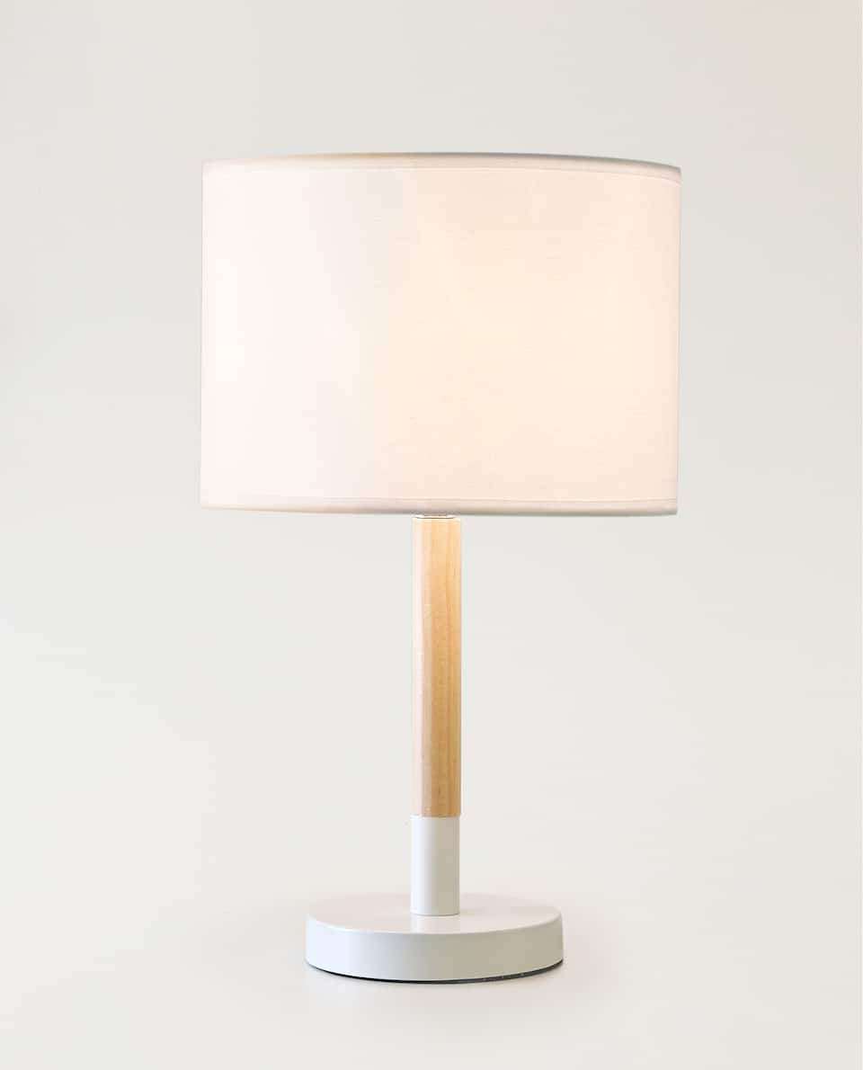 WOOD AND METAL LAMP