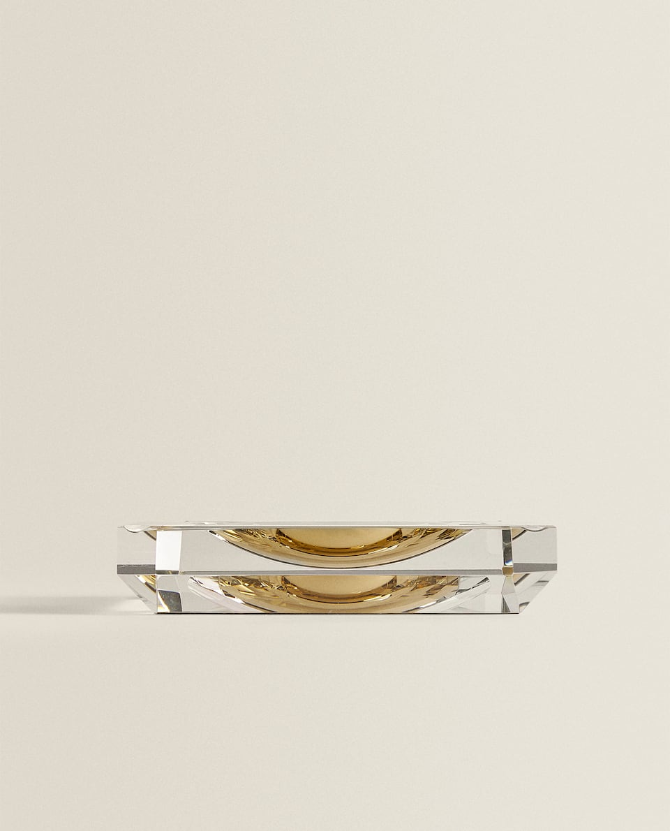 GOLDEN GLASS ASHTRAY