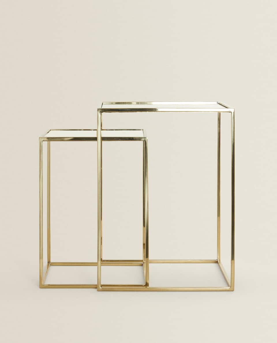 MIRRORED NESTING TABLES (SET OF 2)
