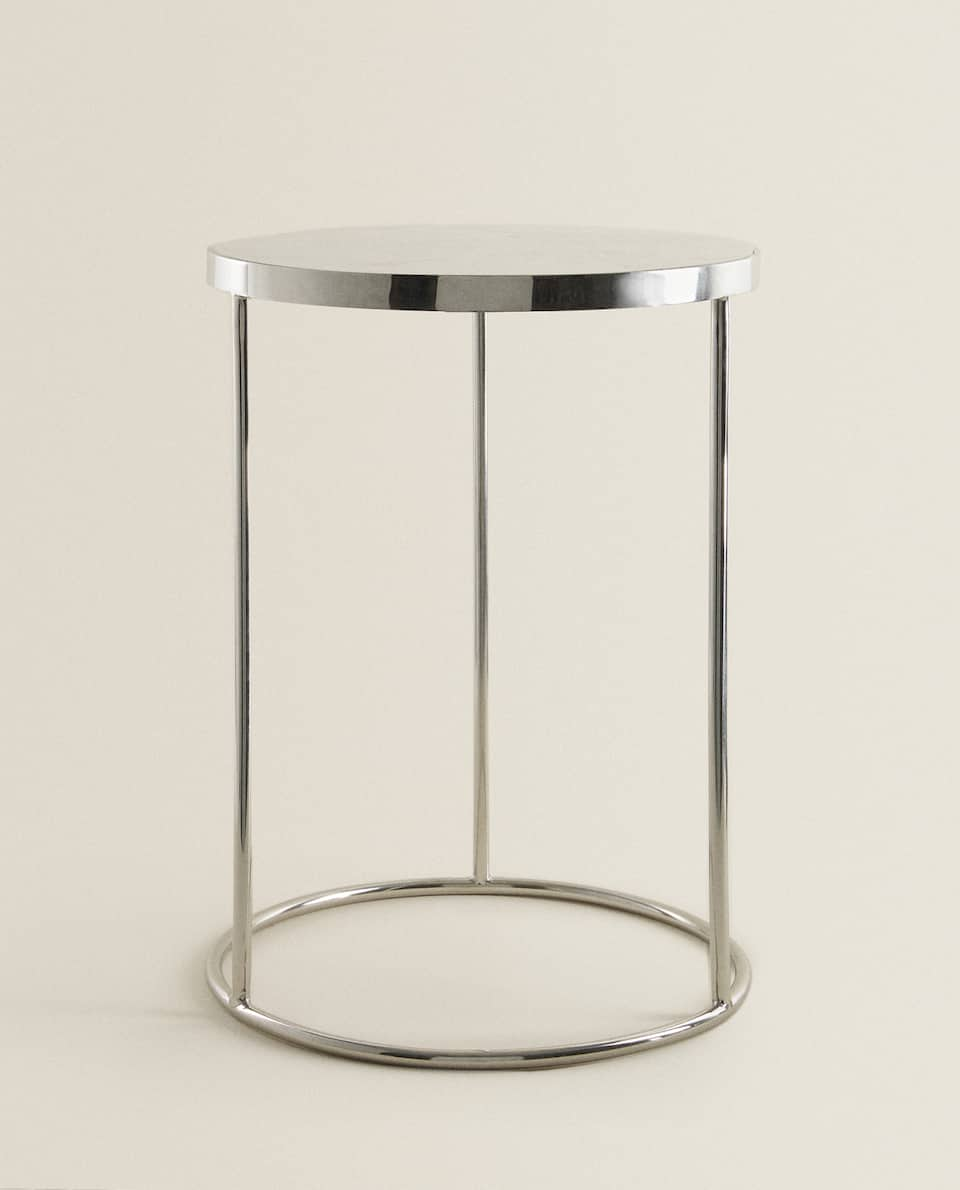 SILVER MARBLE TABLE