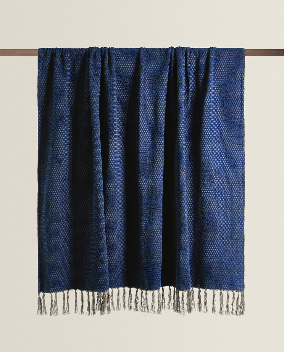 FRINGED BLANKET