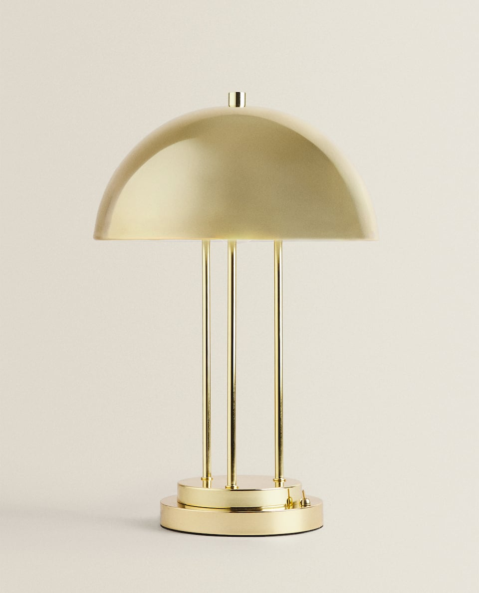 DOME LAMP WITH A METAL BASE