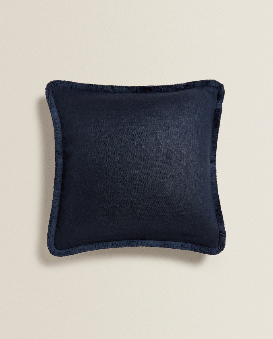 TASSELLED CUSHION COVER