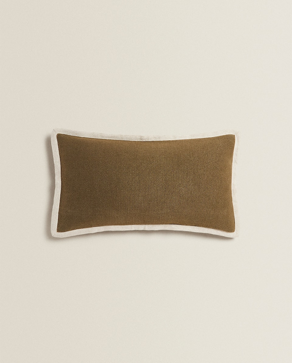 TWO-TONE CUSHION COVER