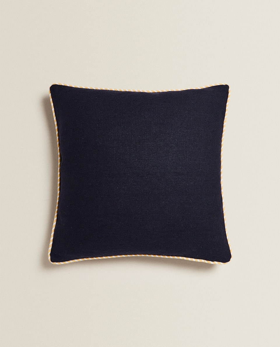 CUSHION COVER WITH TRIM
