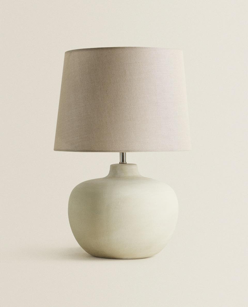 LAMP MET AARDEWERKEN VOET