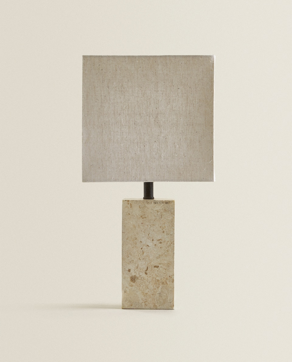 LAMP WITH A STONE BASE