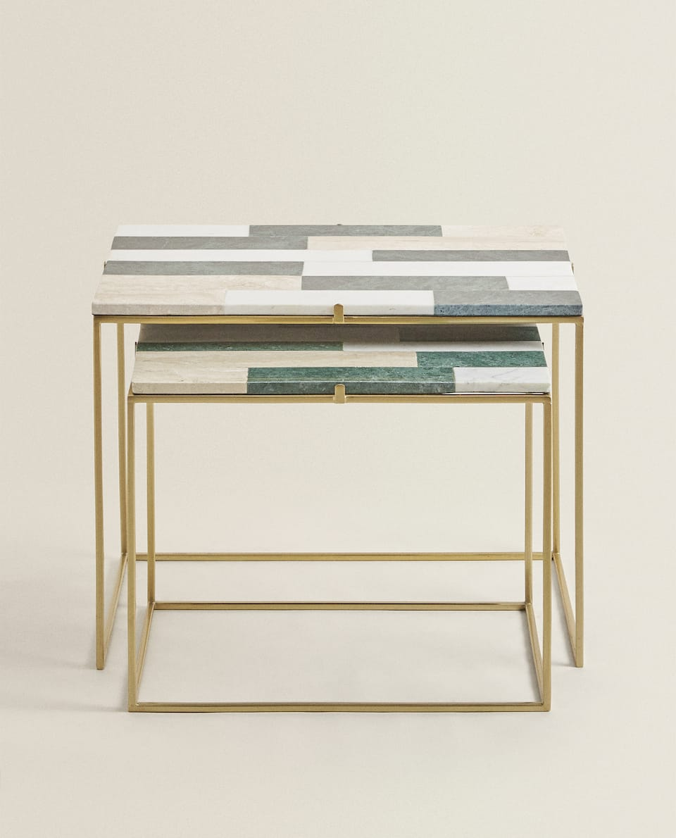 MARBLE TABLE (SET OF 2)