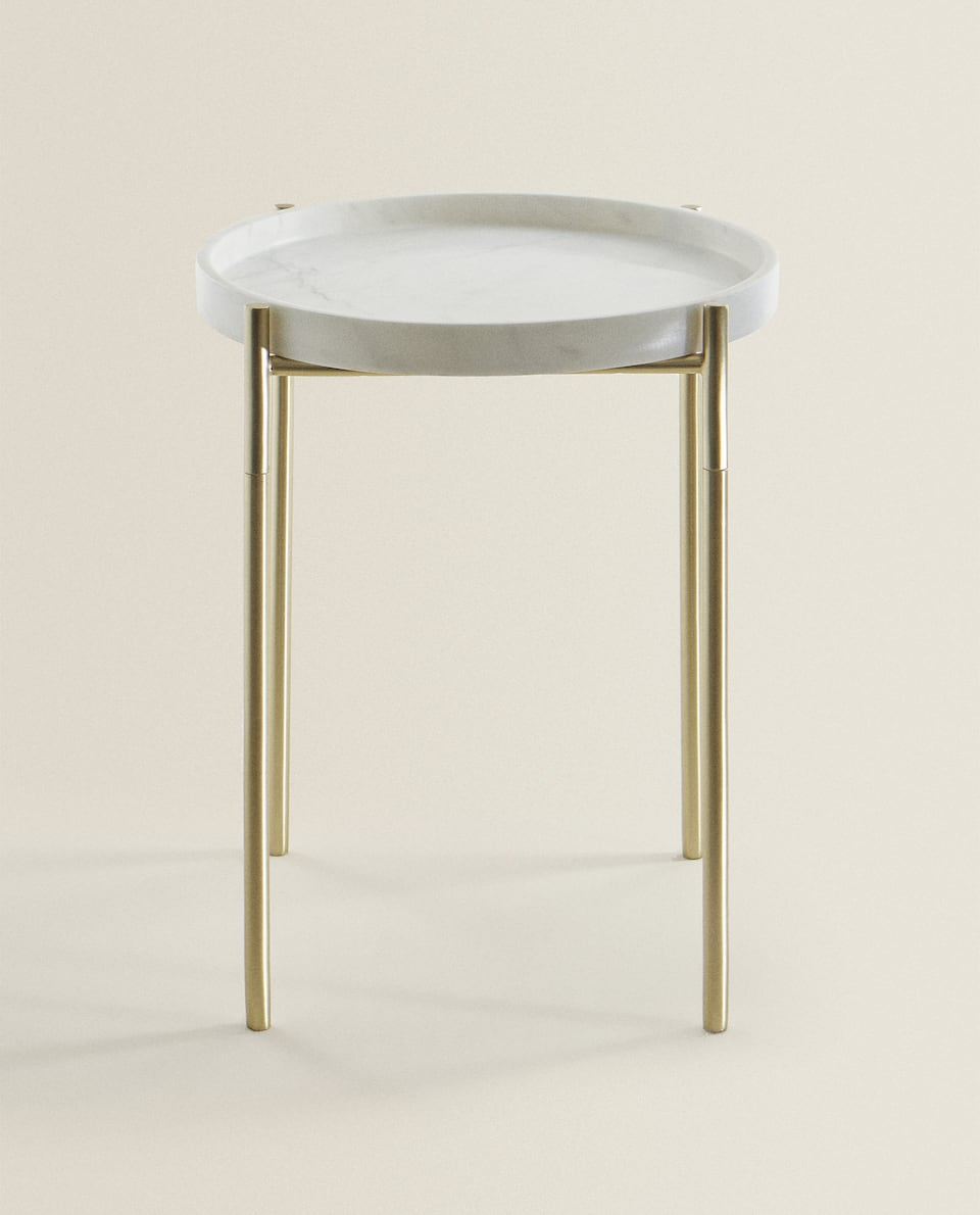 SIDE TABLE WITH MARBLE TOP