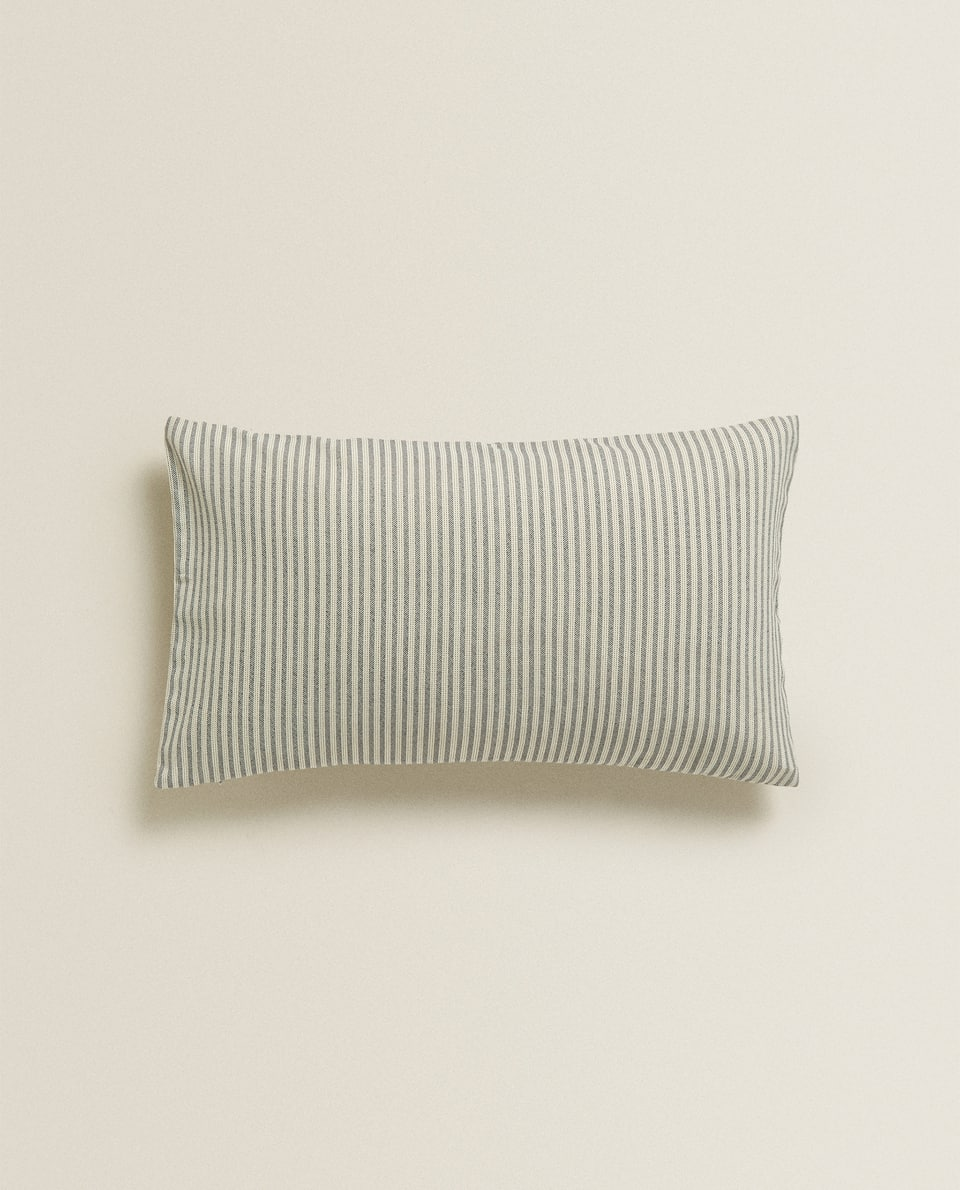 STRIPED COTTON CUSHION COVER
