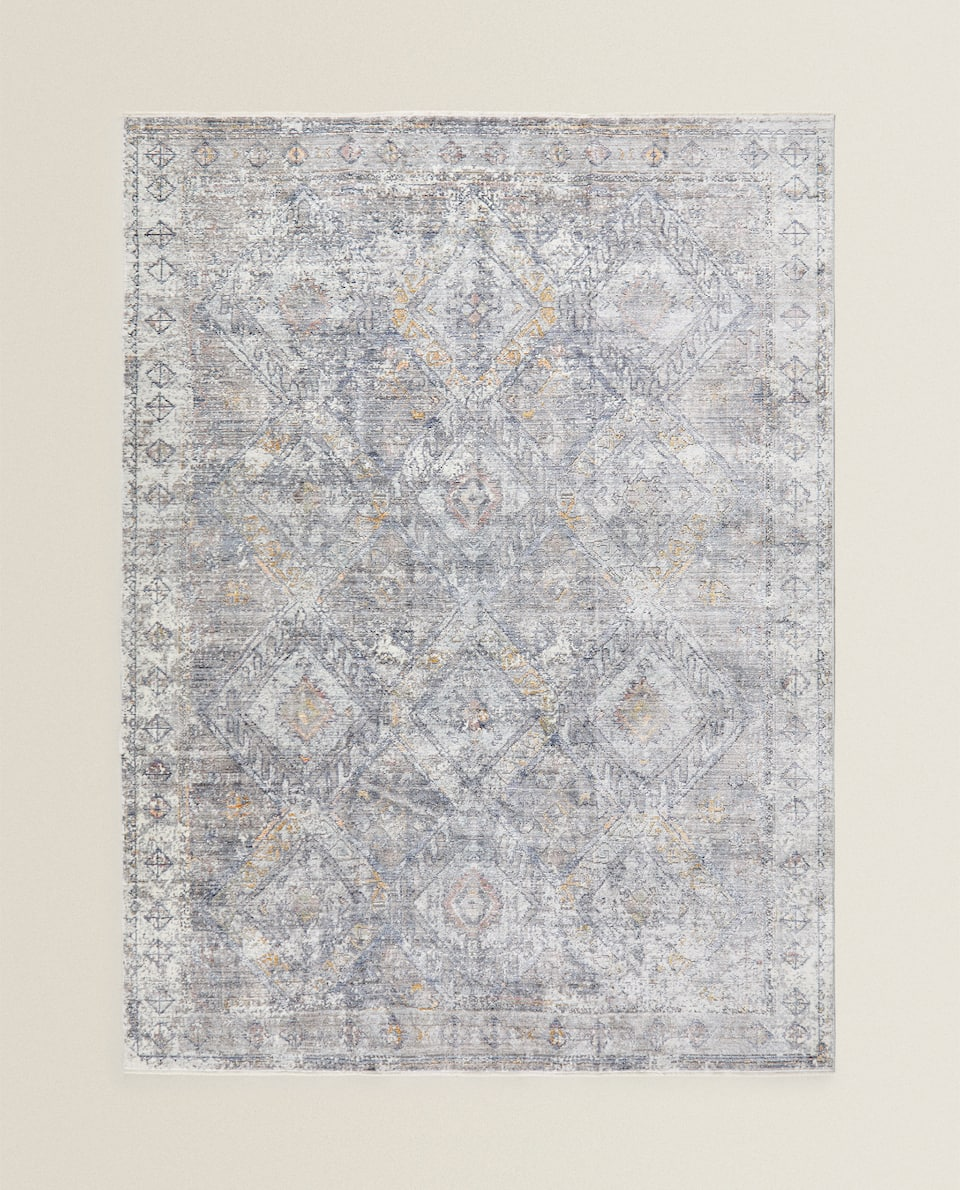 ANTIQUE-FINISH VISCOSE RUG