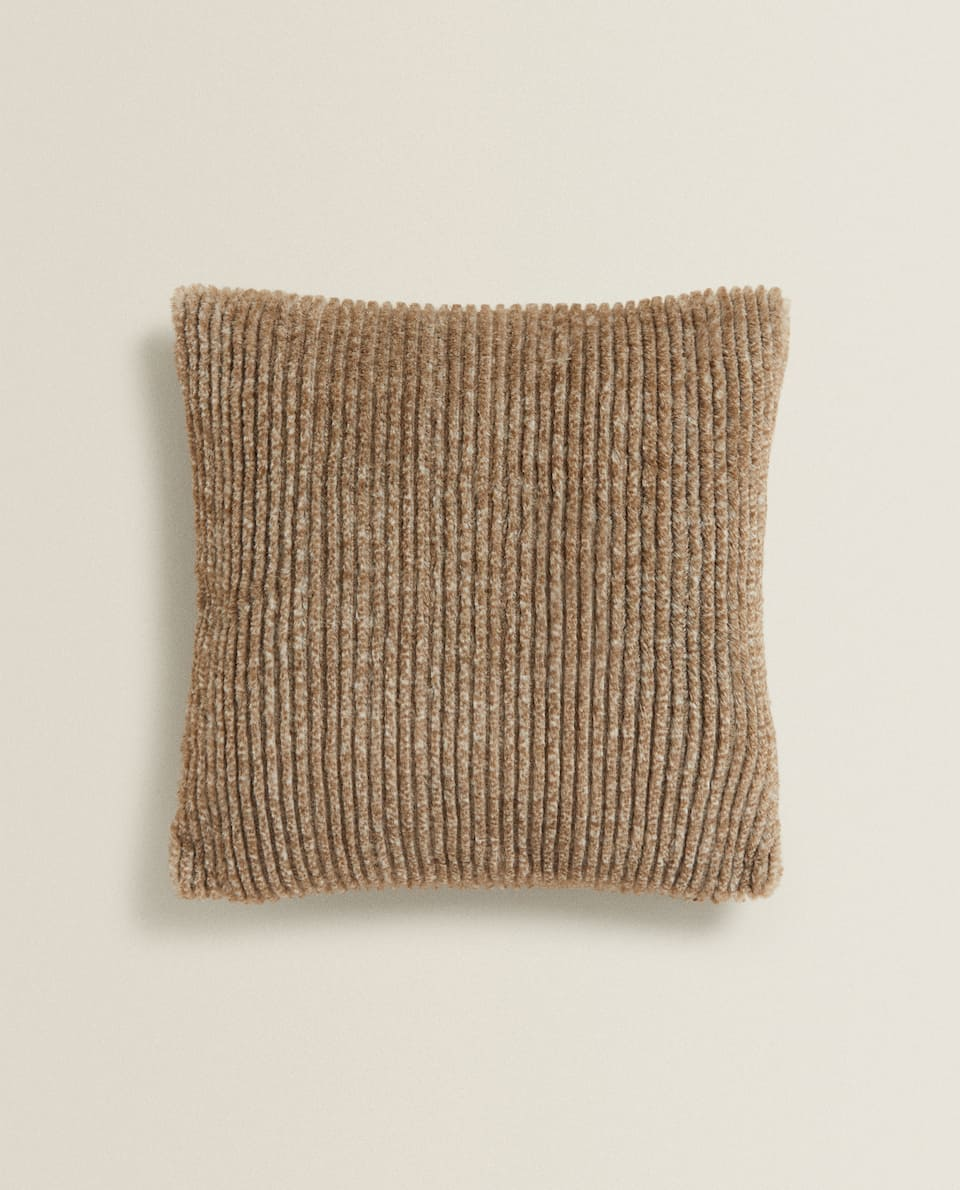 TEXTURED FAUX FUR CUSHION COVER