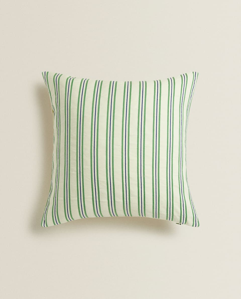 TWO-TONE STRIPED CUSHION COVER