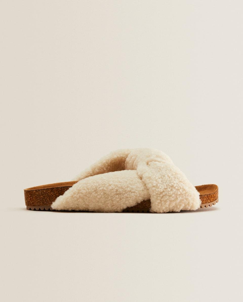 Sandalia nudo borreguito