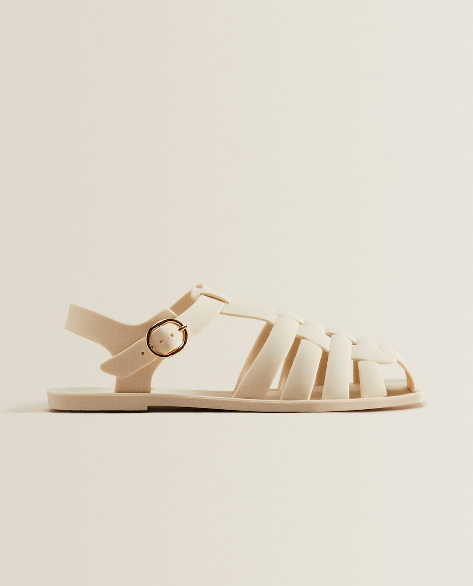 Rubber cage sandals