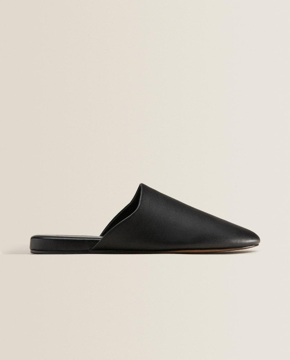 Pantofole in pelle