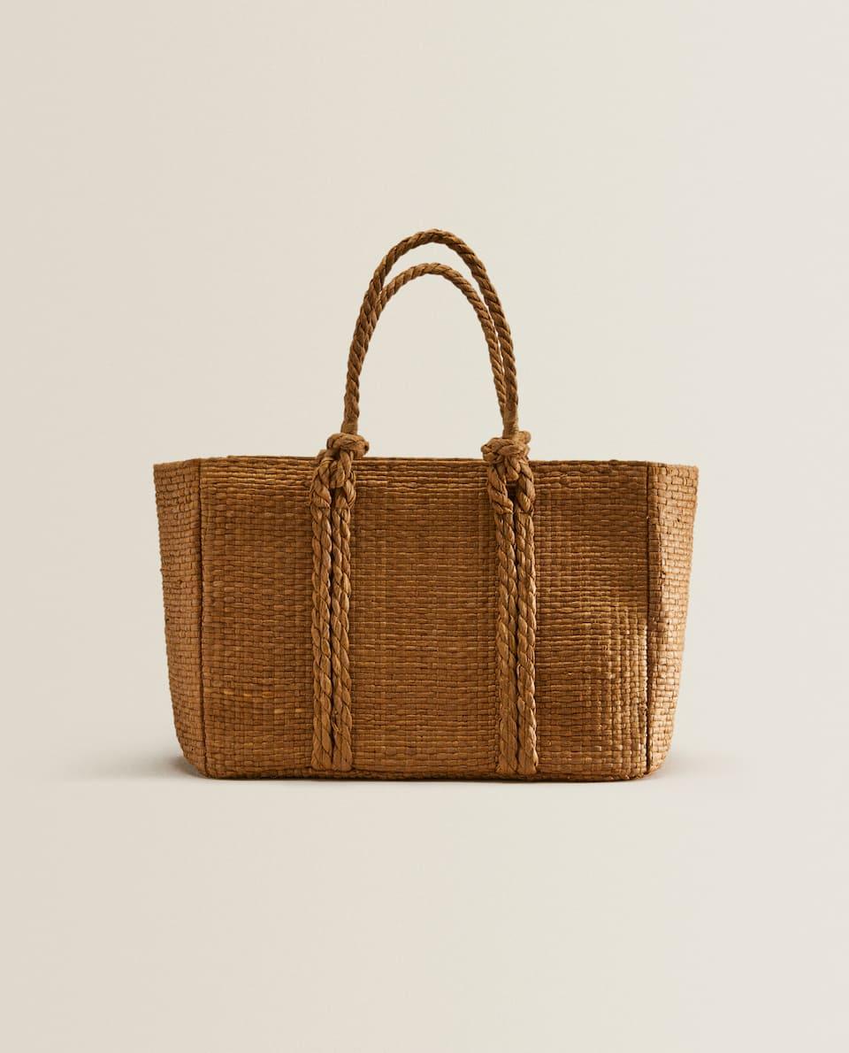 Woven natural basket