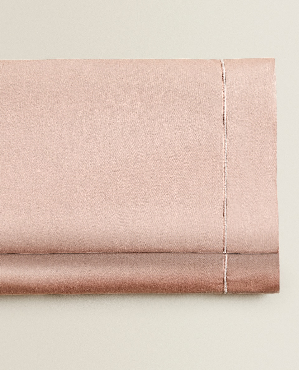 (300 THREAD COUNT) SATEEN FLAT SHEET WITH TRIM