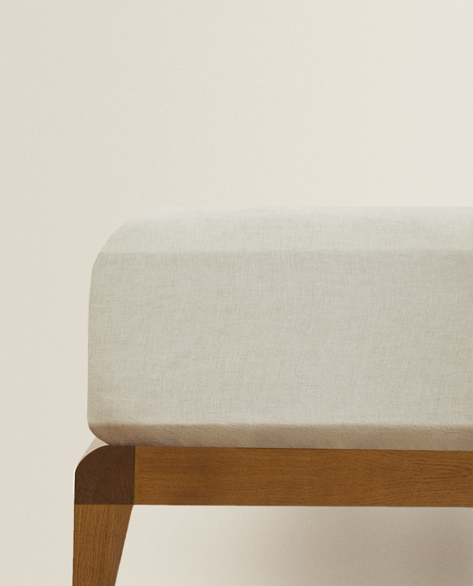 (160 GSM) WASHED LINEN FITTED SHEET