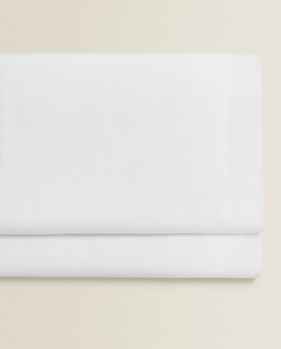 (500 THREAD COUNT) COTTON PERCALE FLAT SHEET