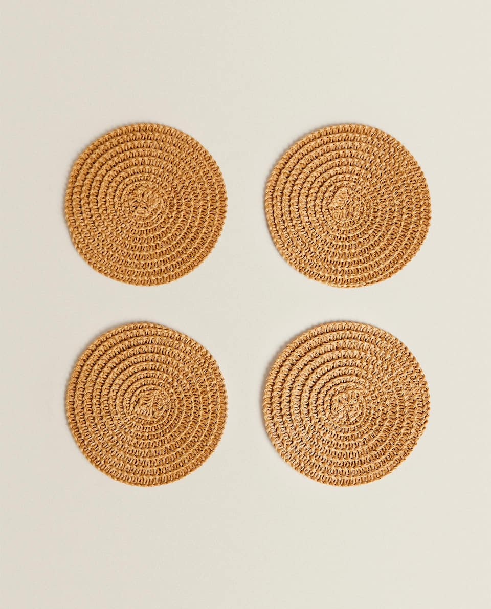 WOVEN PAPER COASTERS (PACK OF 4)