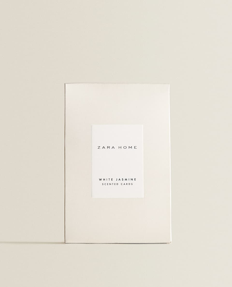 WHITE JASMINE SCENTED CARDS (PACK OF 3)