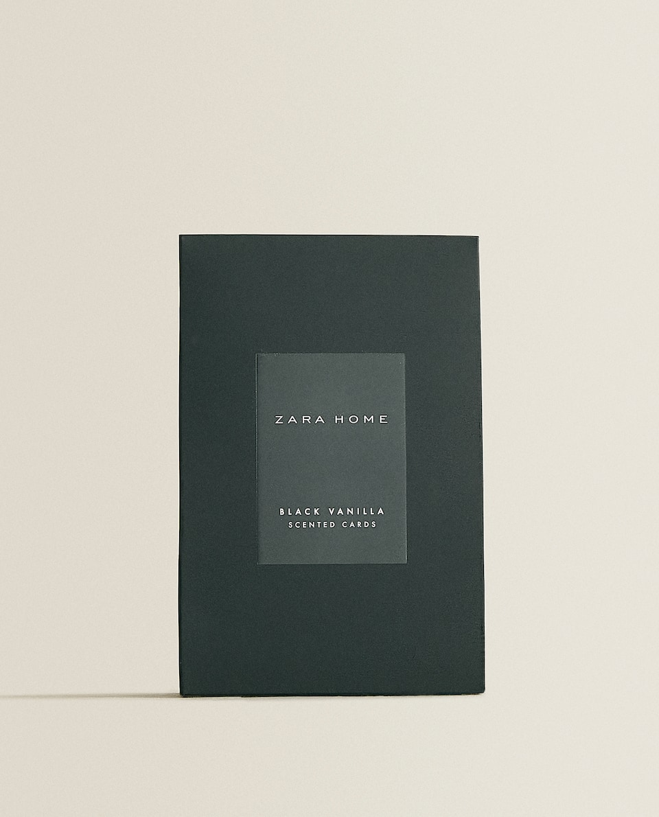 BLACK VANILLA SCENTED CARDS (PACK OF 3)