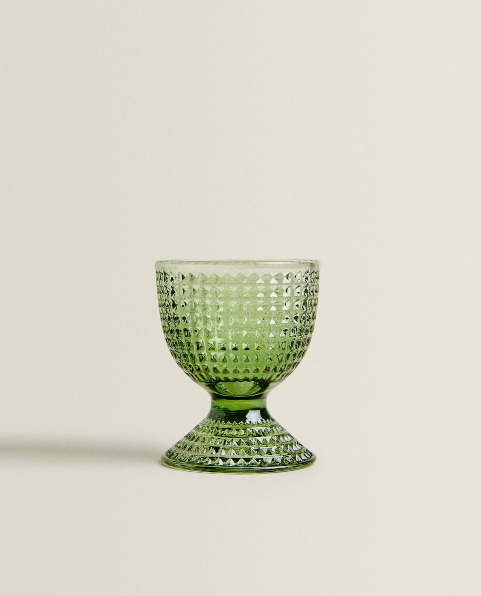 GLASS EGG CUP