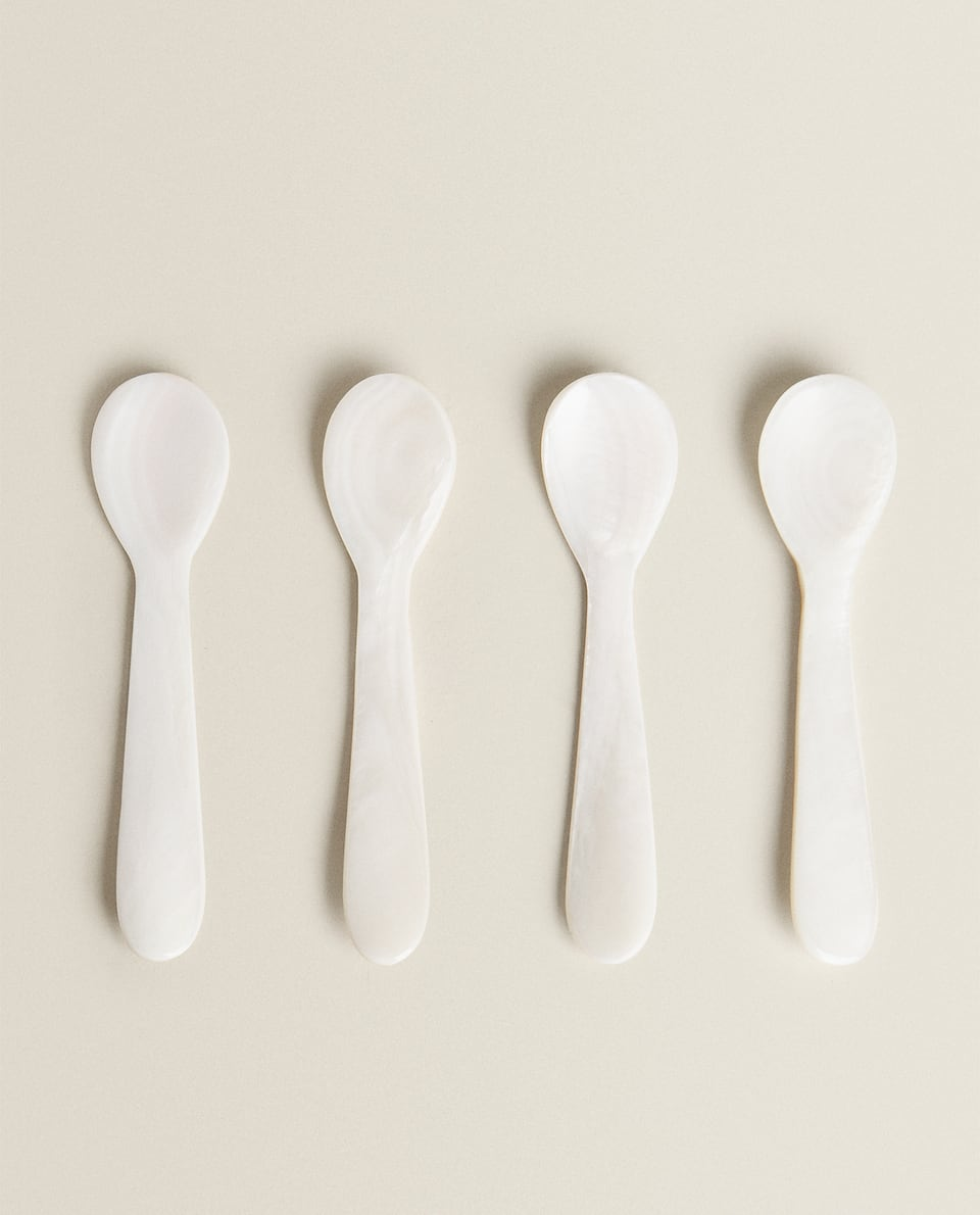 MOTHER-OF-PEARL CAVIAR SPOONS (PACK OF 4)