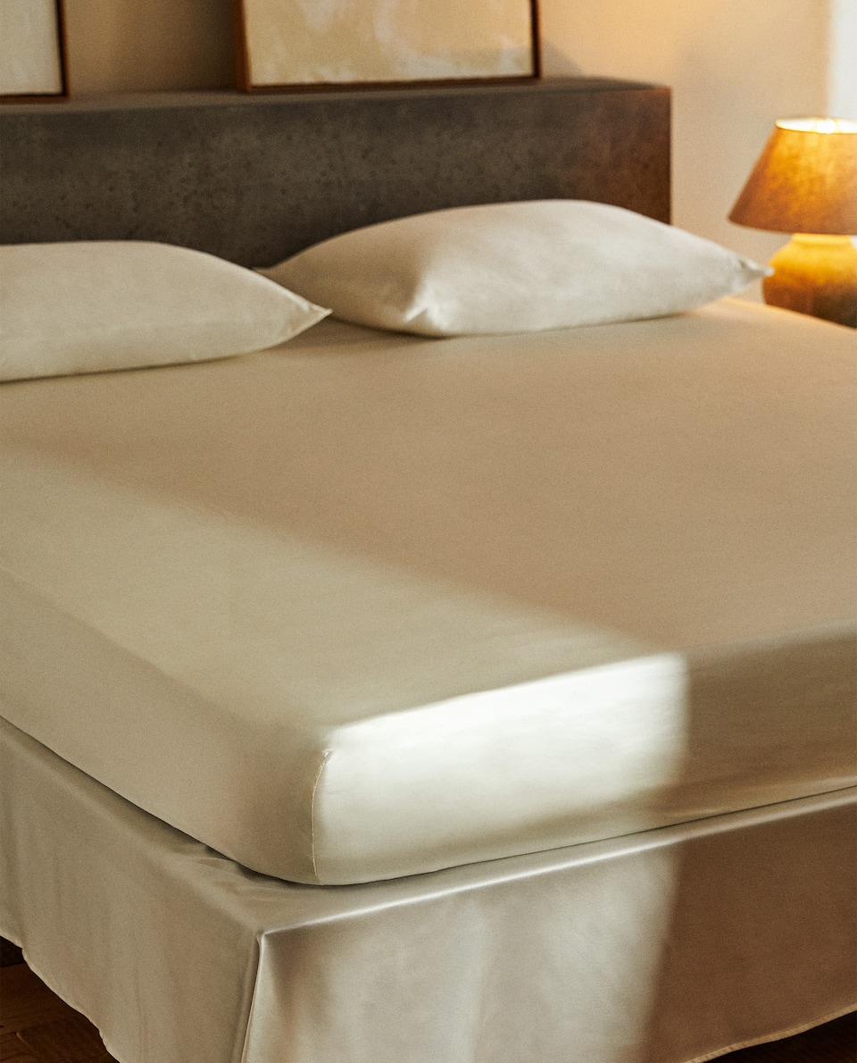 100% MULBERRY SILK FITTED SHEET