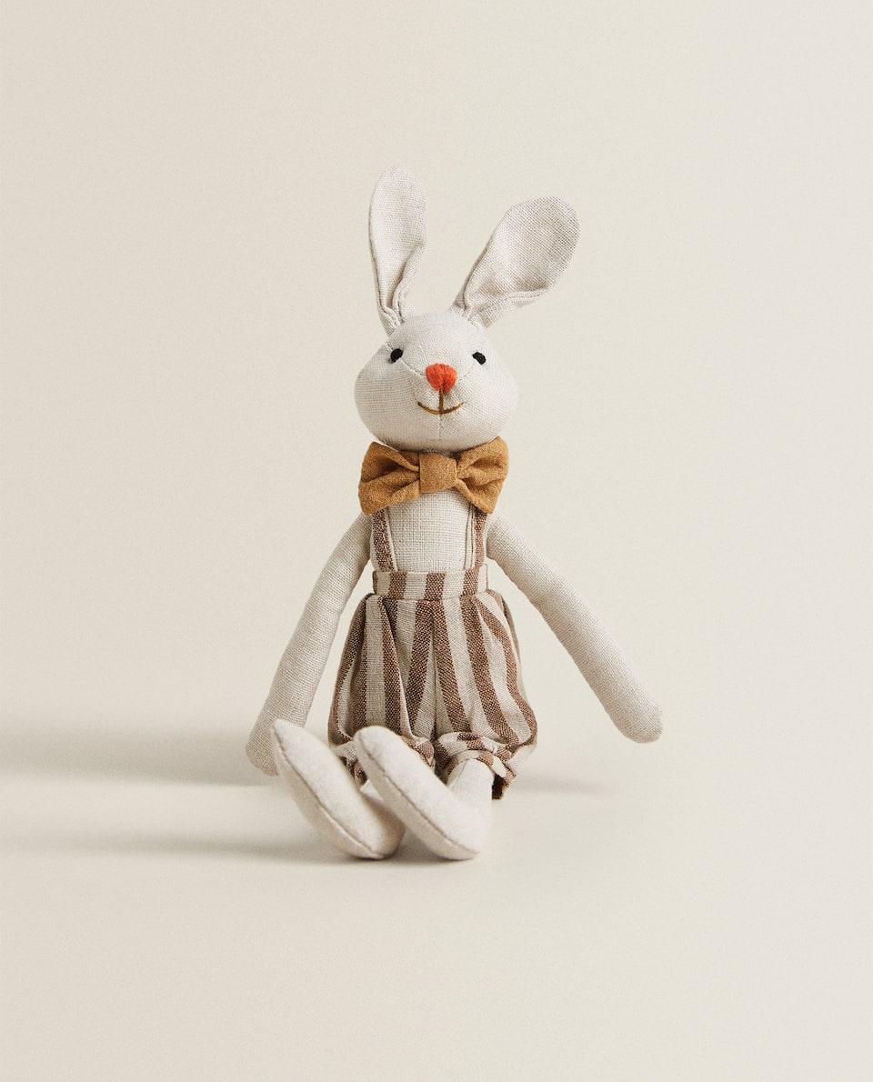 著褲裝兔子造型毛絨玩具