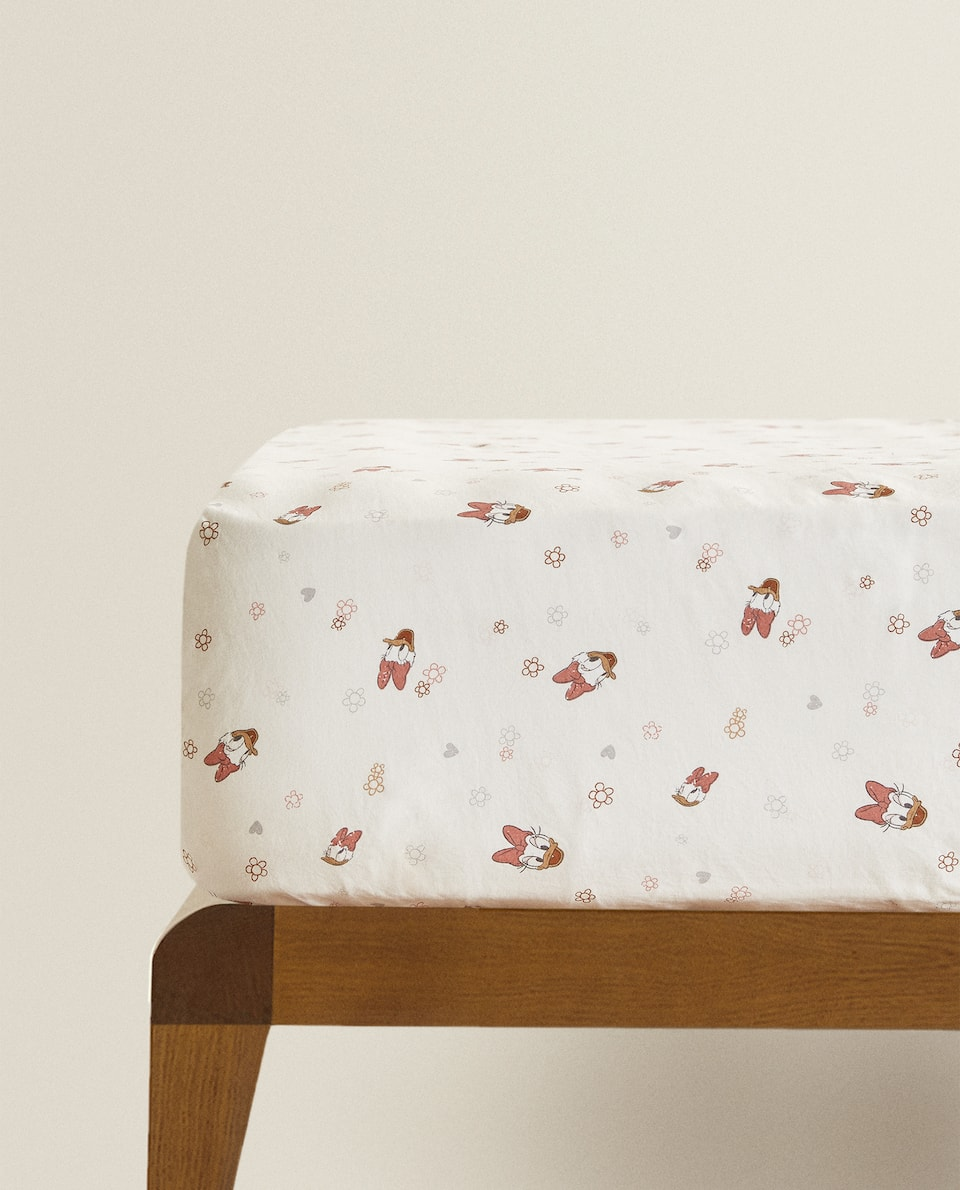 DAISY PRINT FITTED SHEET