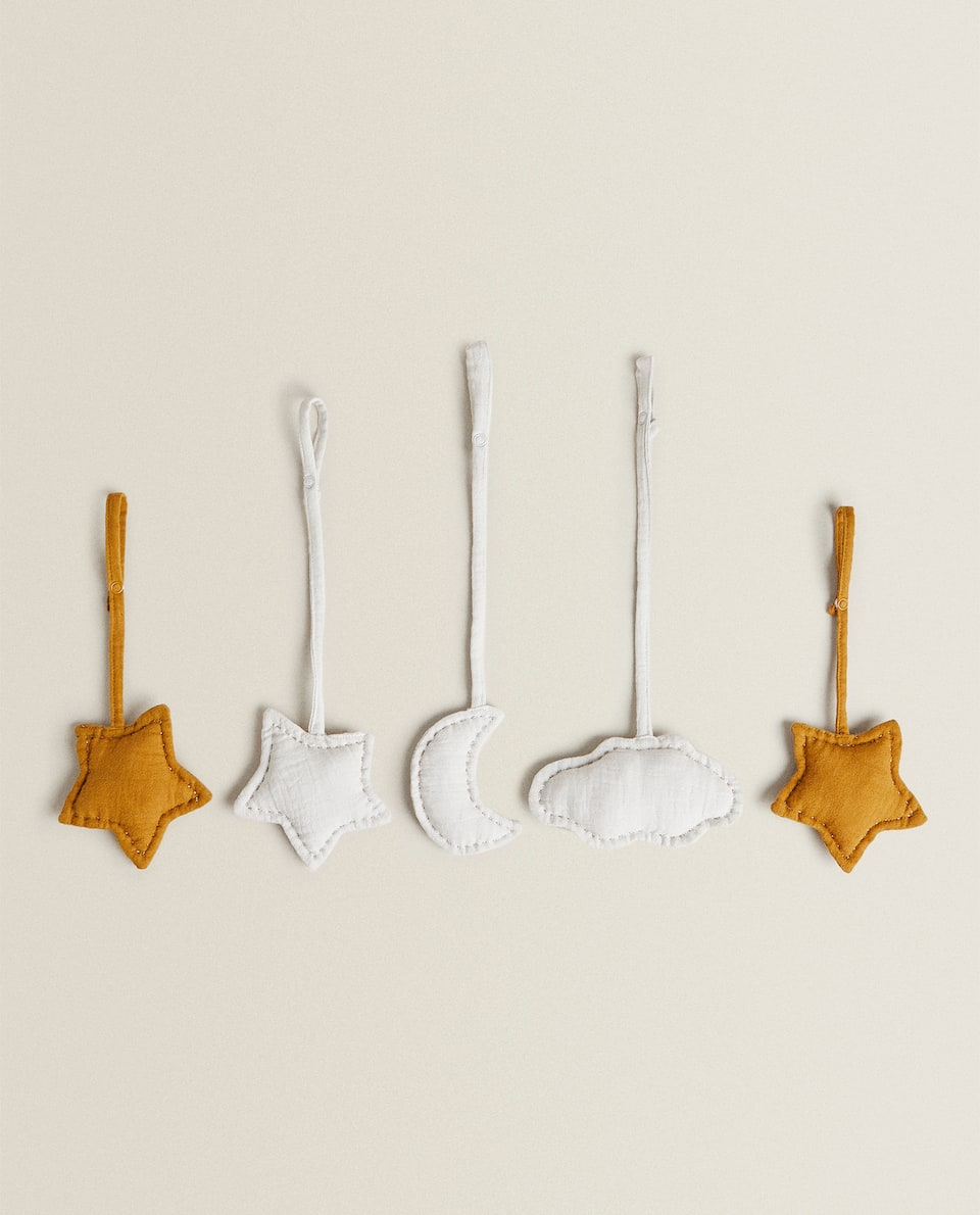BABY GYM MOBILE DECORATION (PACK OF 5)