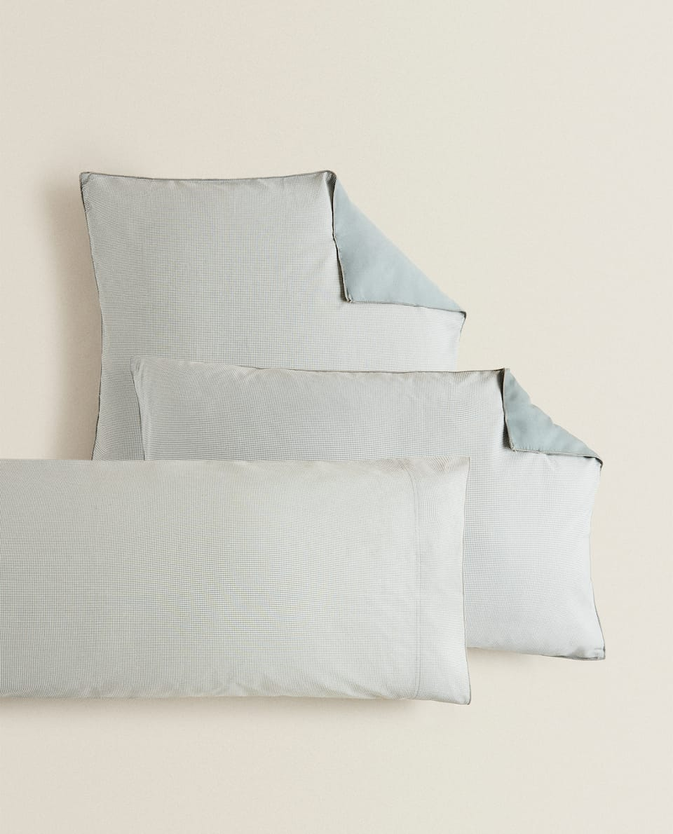 REVERSIBLE HOUNDSTOOTH PILLOWCASE