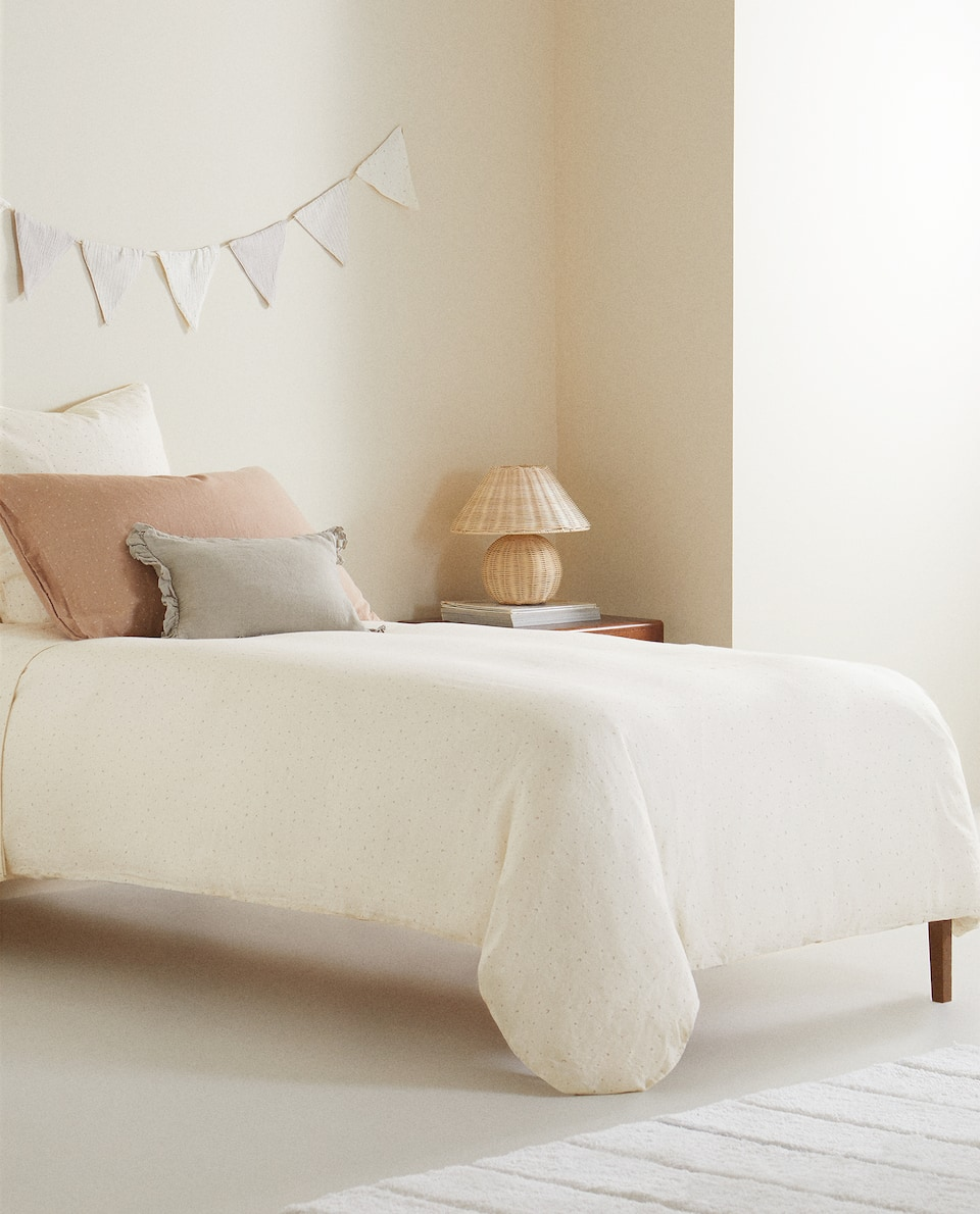 DUVET COVER WITH MOONS AND STARS WITH LINEN