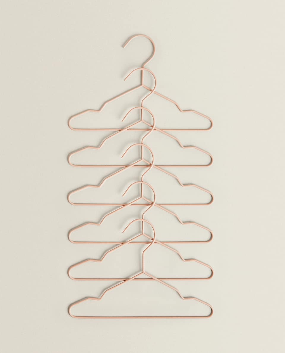 RUBBERISED BABY HANGER (PACK OF 6)