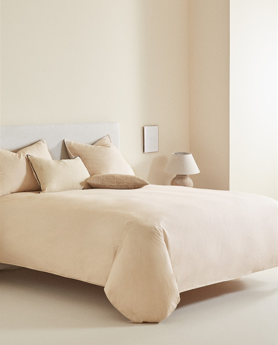 WASHED COTTON STRIPED DUVET COVER