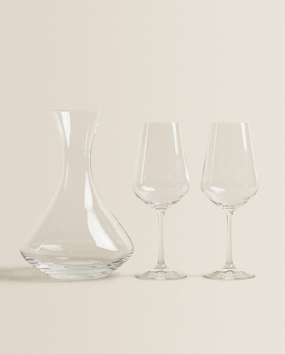 SET OF BOHEMIA CRYSTAL GLASSWARE