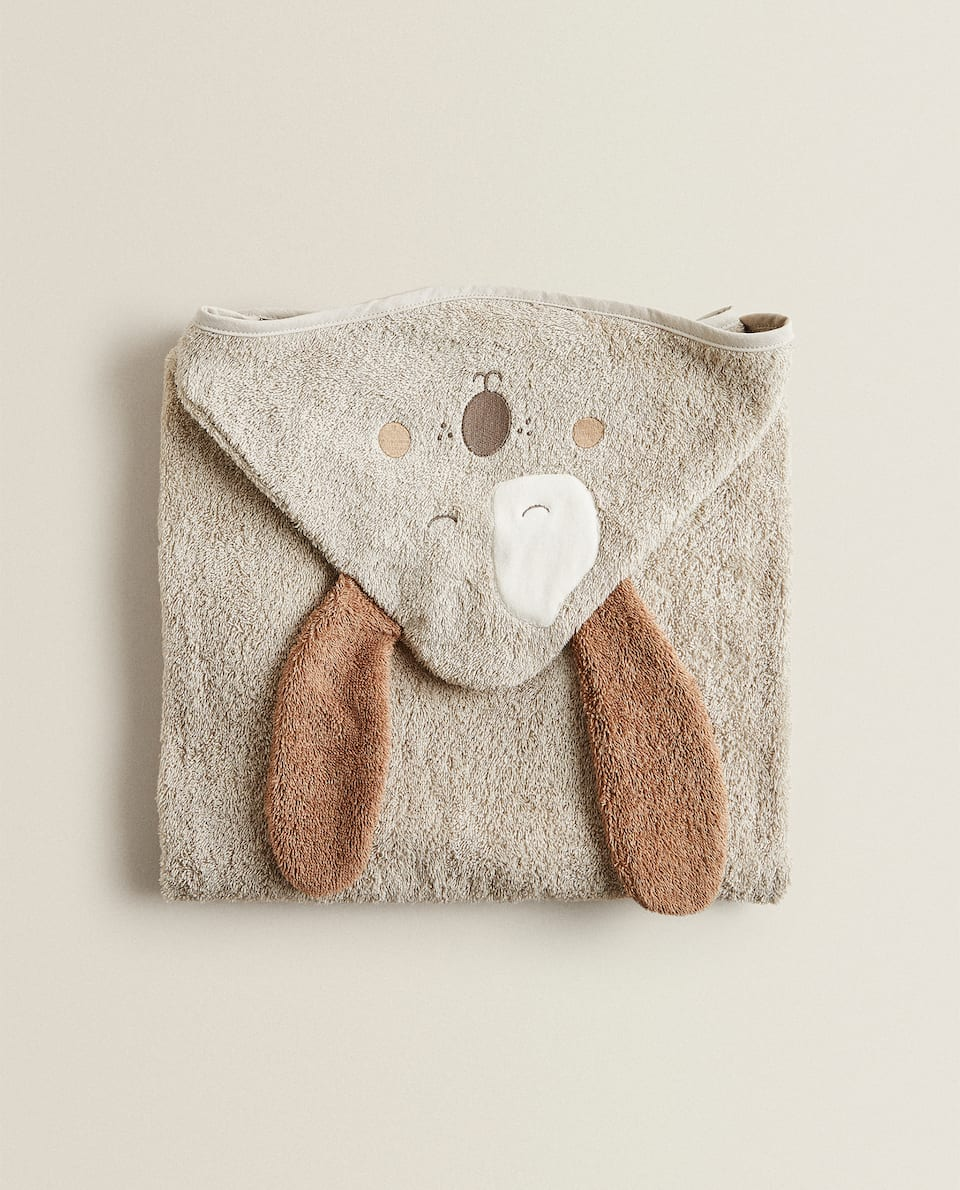 DOG HOODED TOWEL WITH EARS