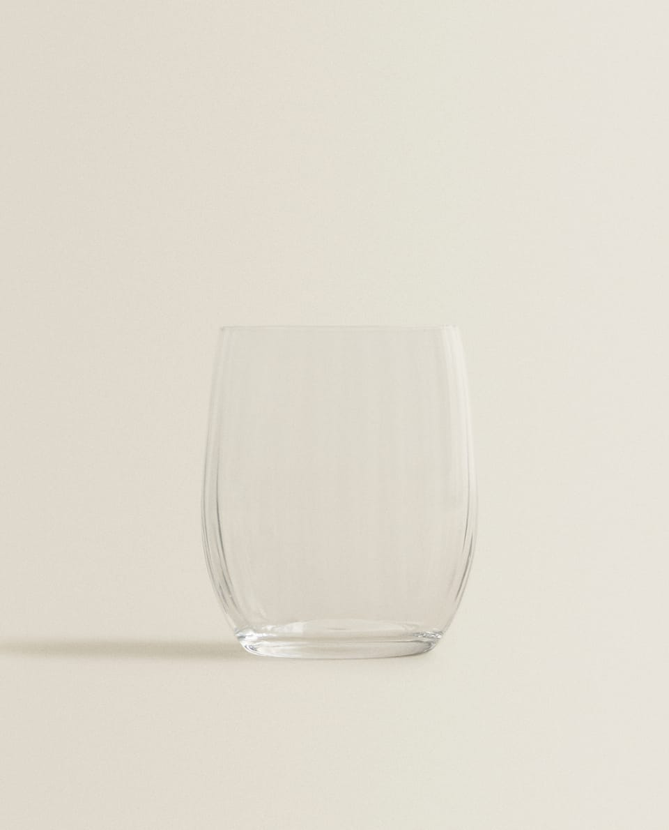 BOHEMIA CRYSTAL TUMBLER WITH LINES