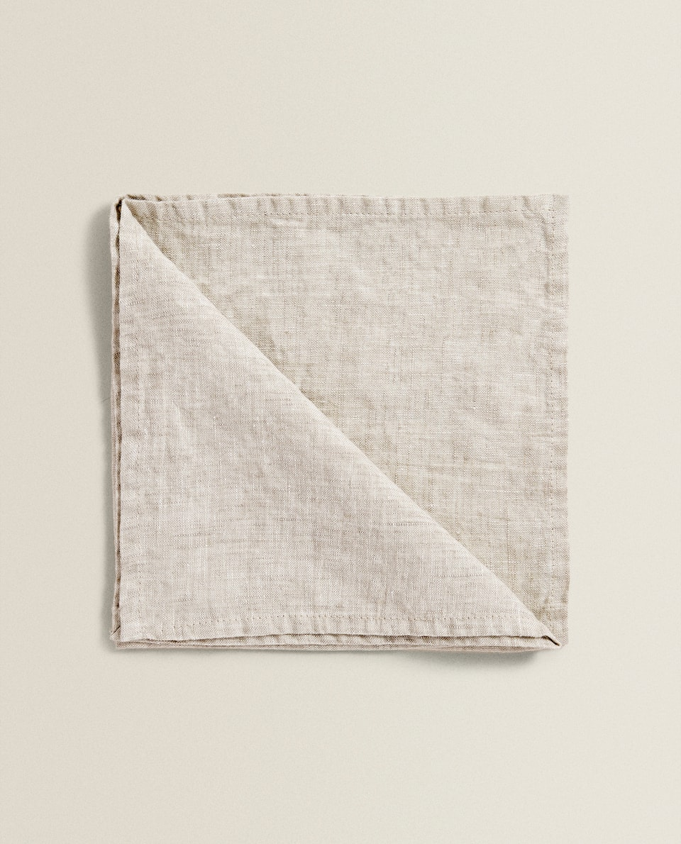 FADED-EFFECT LINEN NAPKIN (PACK OF 2)
