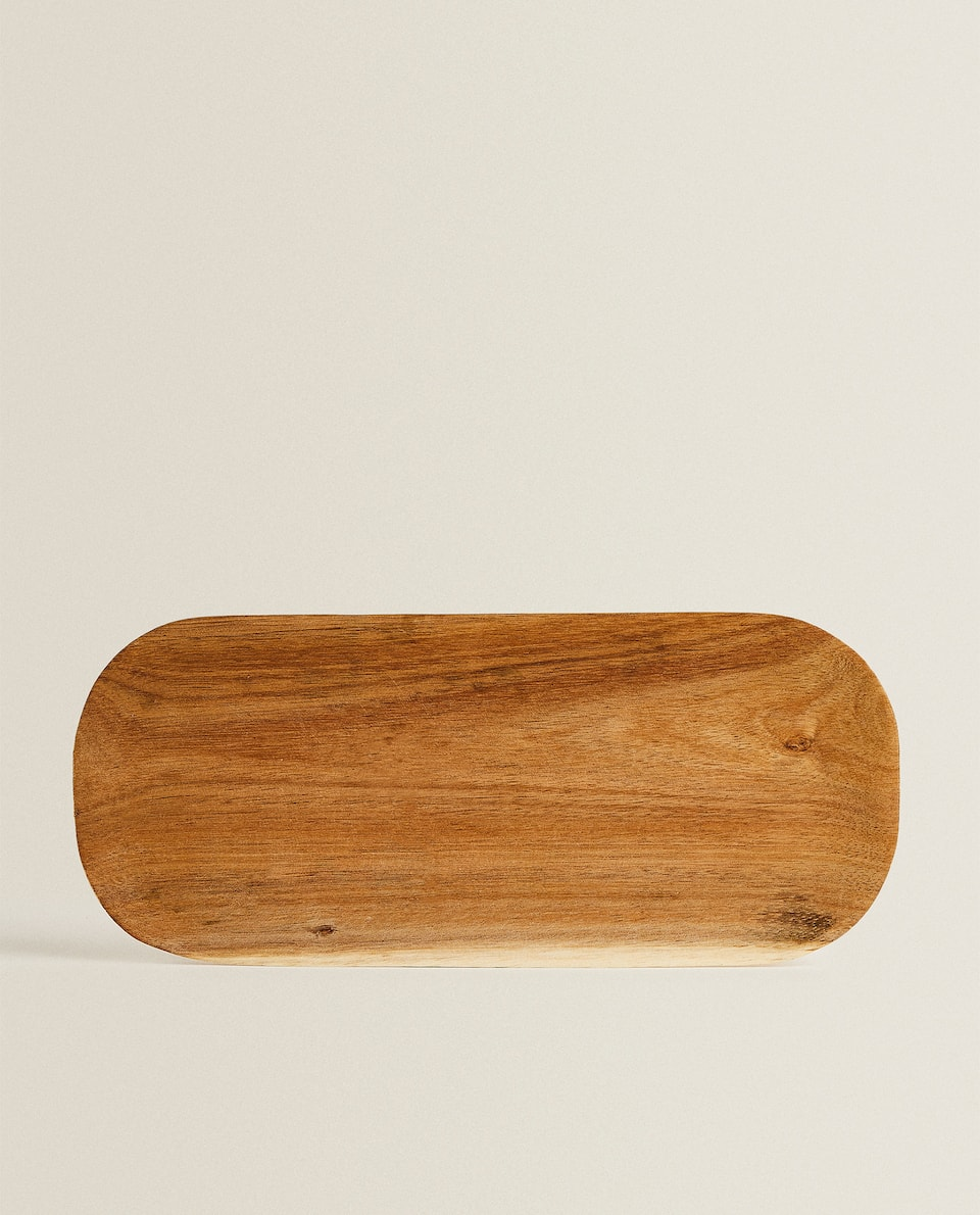 LONG WOODEN TRAY