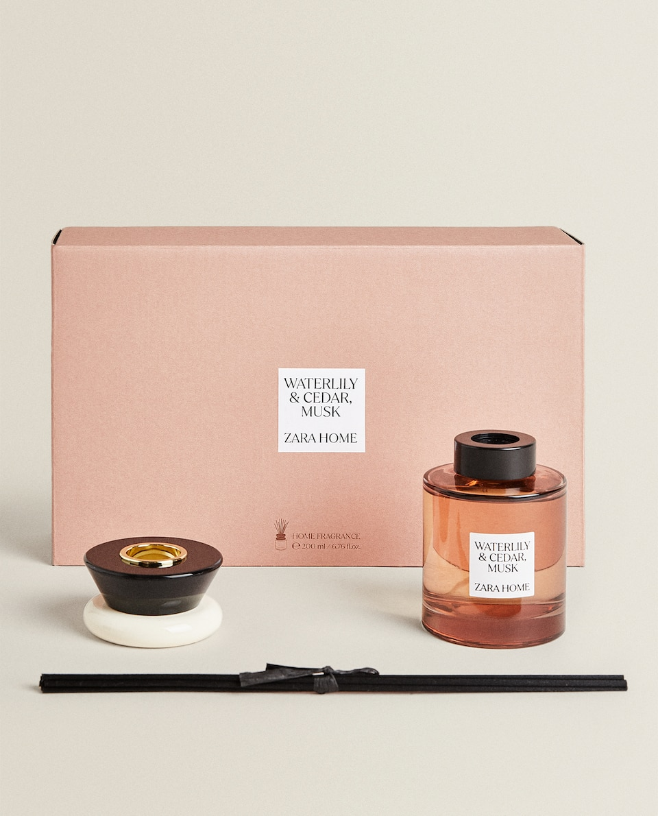 (200 ML) WATER LILY & CEDAR, MUSK REED DIFFUSER