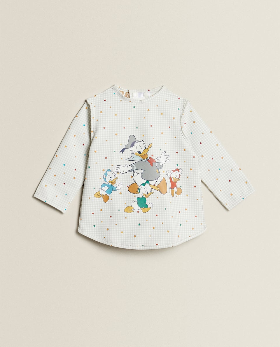 BIB WITH SLEEVES AND DONALD PRINT