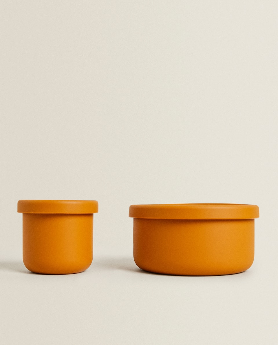 SILICONE LUNCH BOX WITH LID