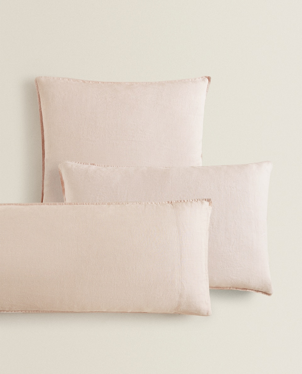 (140 GSM) WASHED LINEN PILLOWCASE