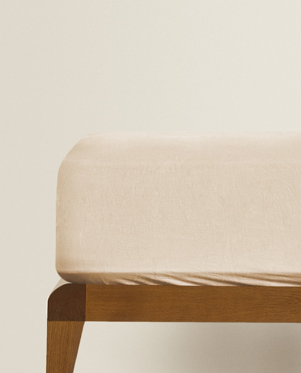 (140 GSM) WASHED LINEN FITTED SHEET
