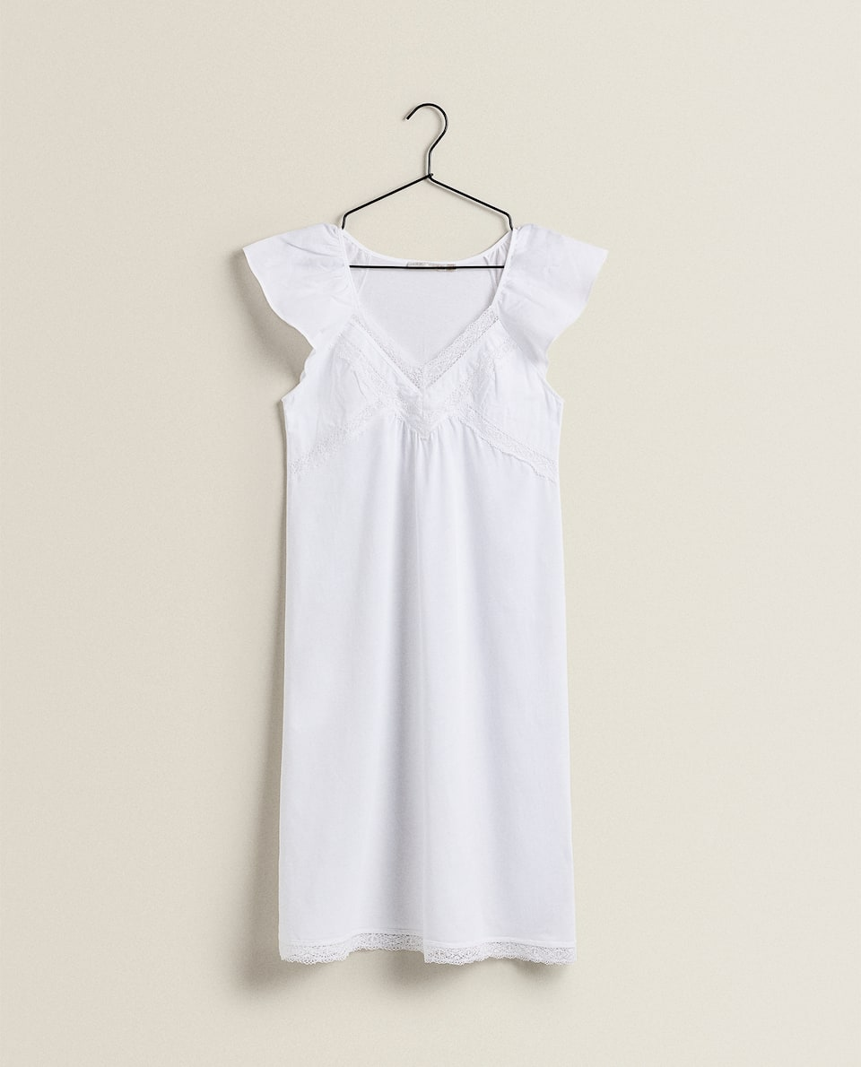 LACE-TRIMMED NIGHTDRESS