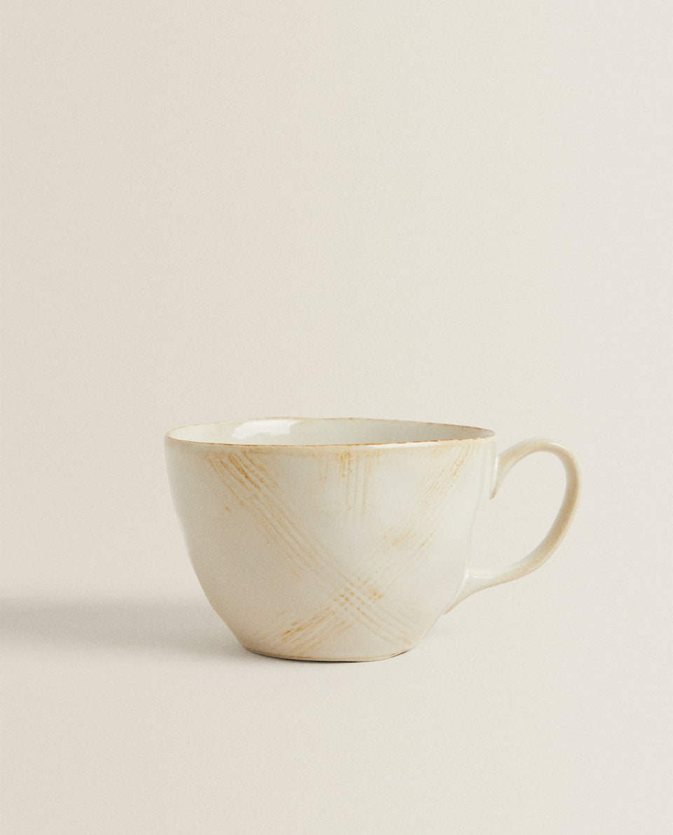 TOASTED STONEWARE COFFEE CUP