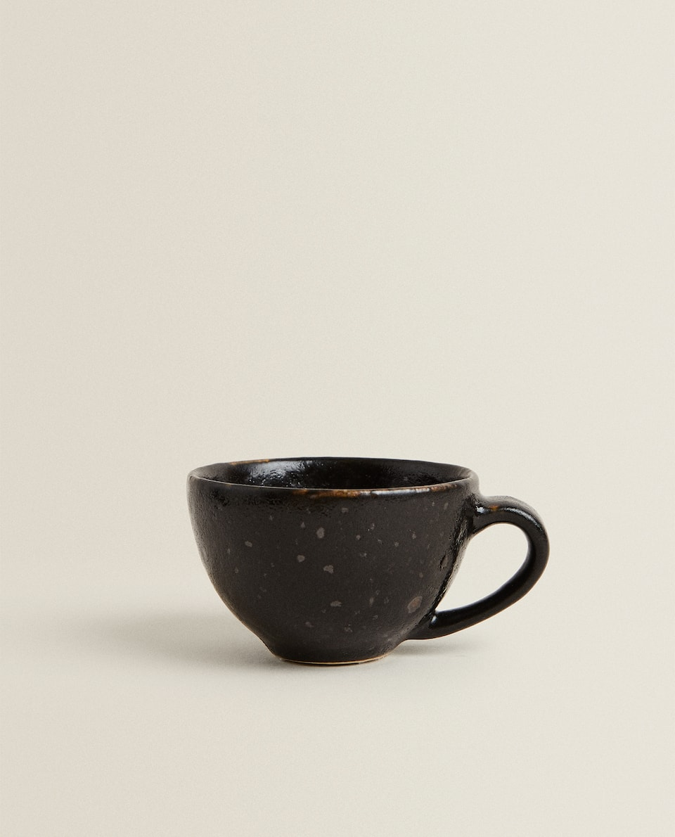 ANTIQUE FINISH STONEWARE COFFEE CUP